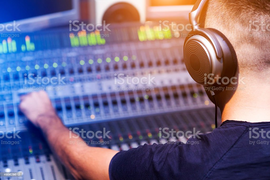 Sound Engineer stock photo
