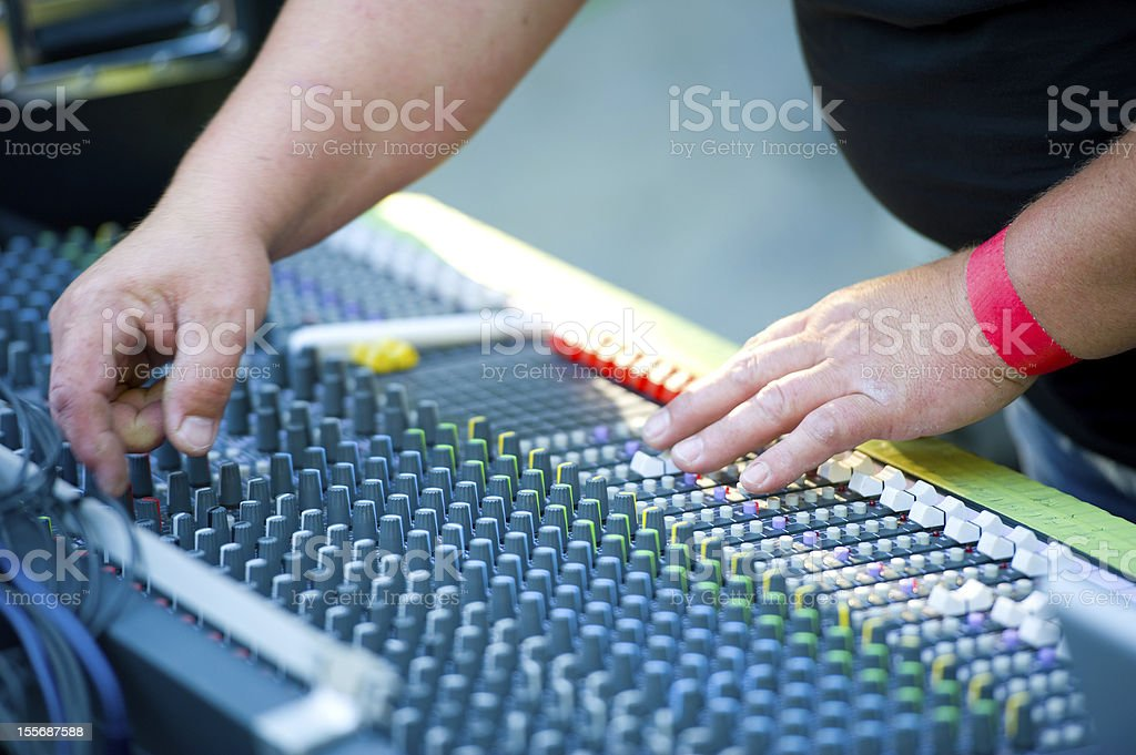 sound engineering stock photo