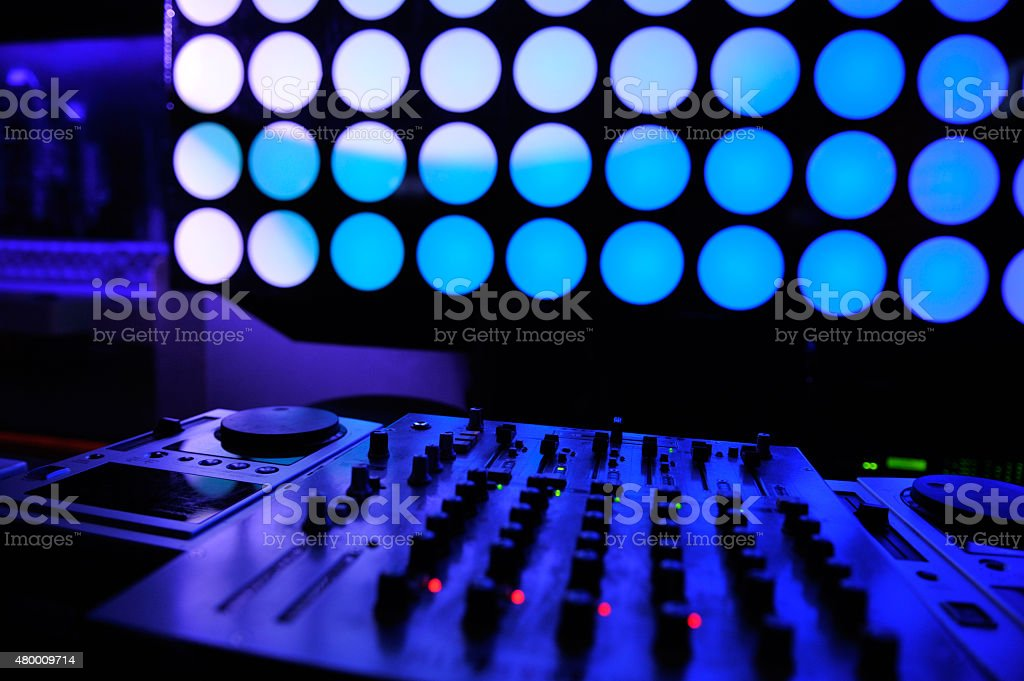 DJ. sound equipment stock photo