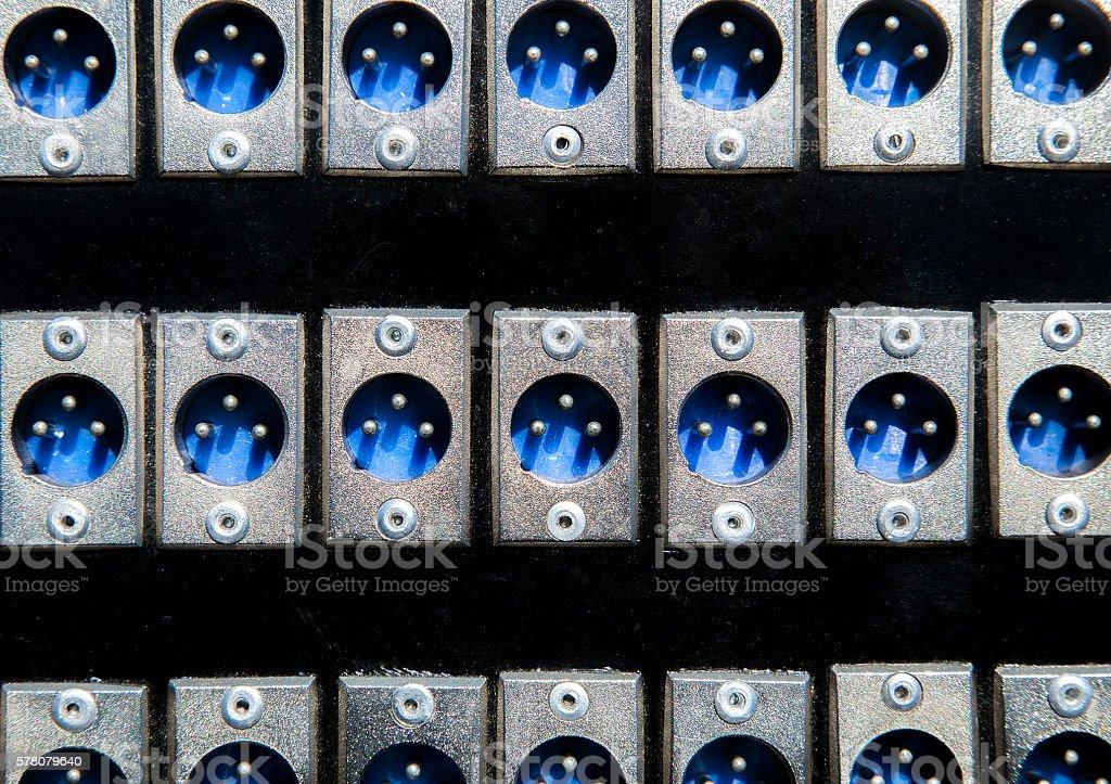 XLR sound jack stock photo