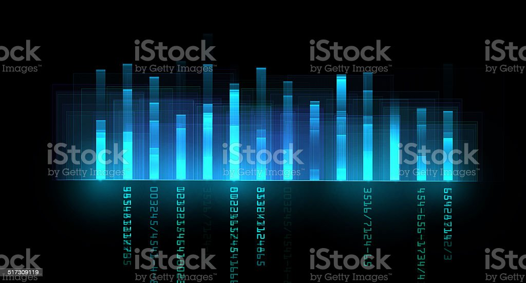 Sound level abstract stock photo