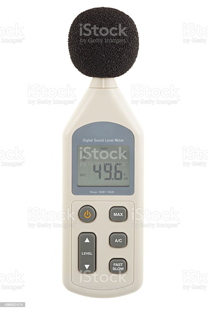 Sound level meter stock photo