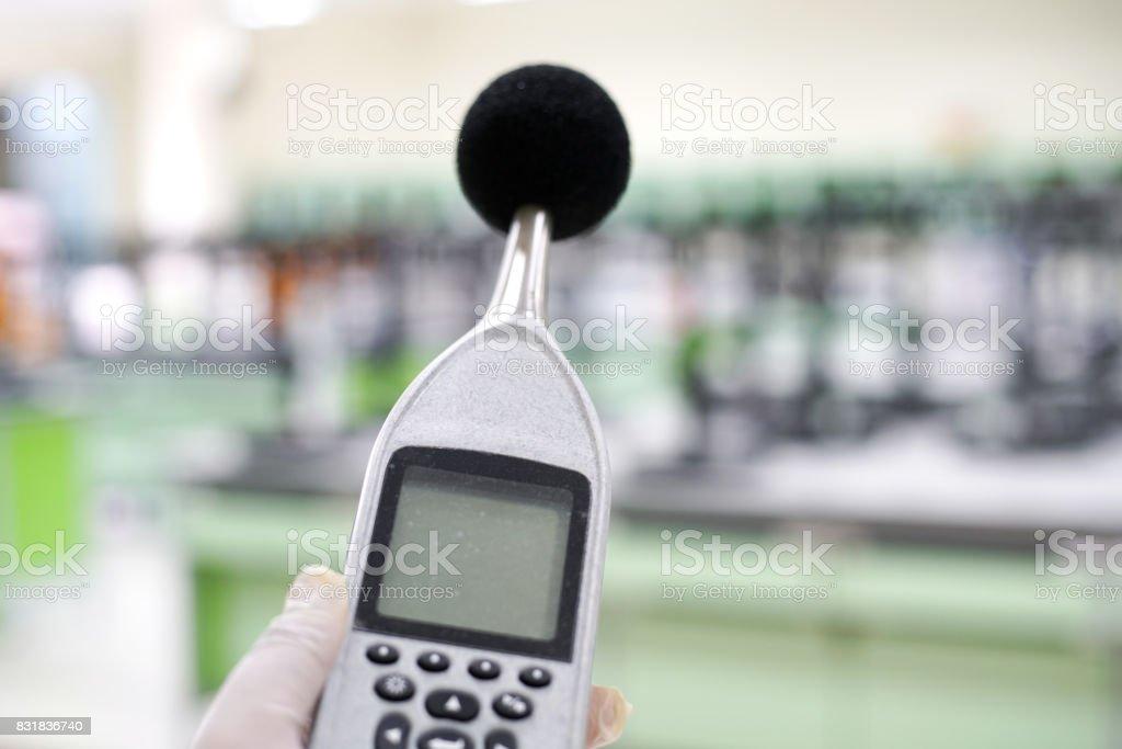 sound level meter. stock photo