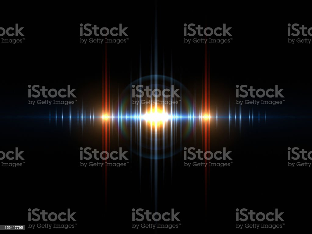 Sound Light Wave stock photo