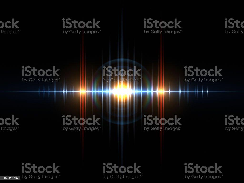 Sound Light Wave stock photo