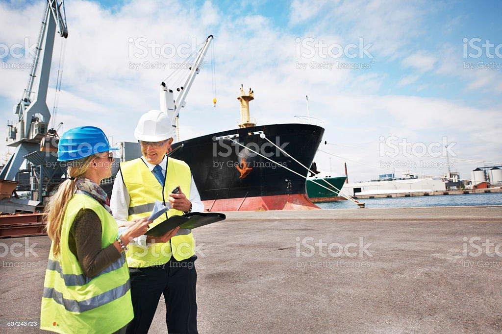 Sound management ensures fair customs trade stock photo