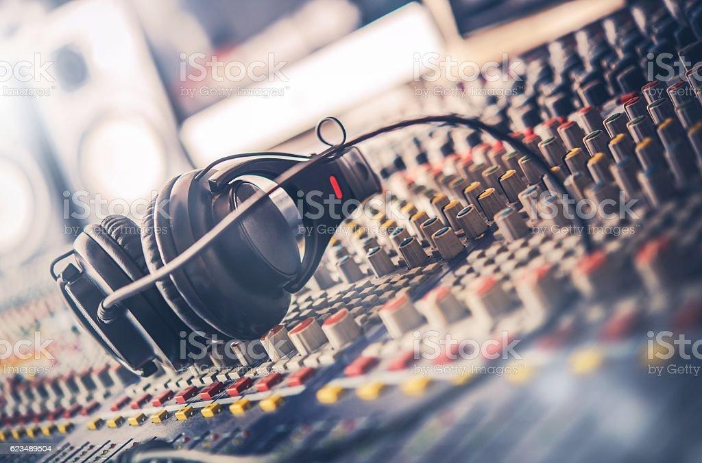 Sound Mastering Mixer stock photo