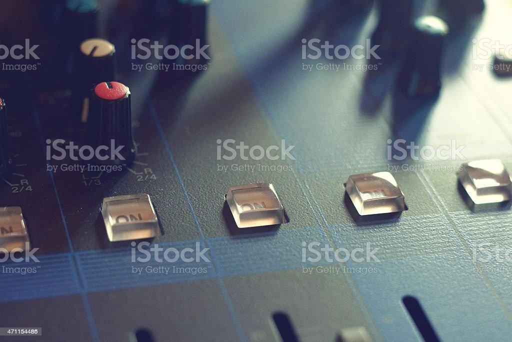 Sound Mix Table stock photo