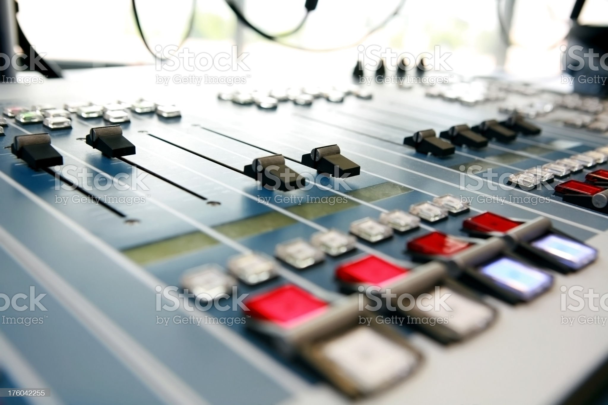 sound mixer and control system royalty-free stock photo