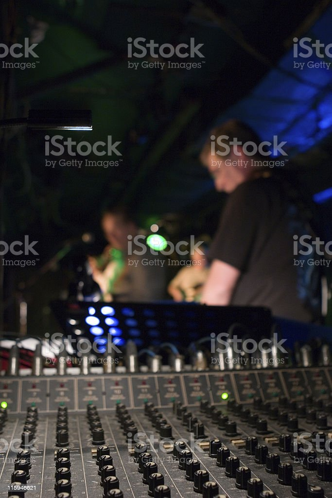 Sound Mixer at a Rock Concert stock photo