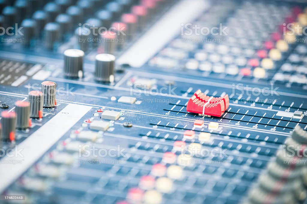 Sound mixer close up royalty-free stock photo
