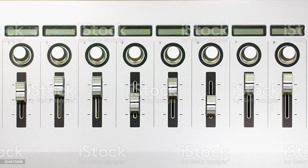 Sound mixer controler stock photo