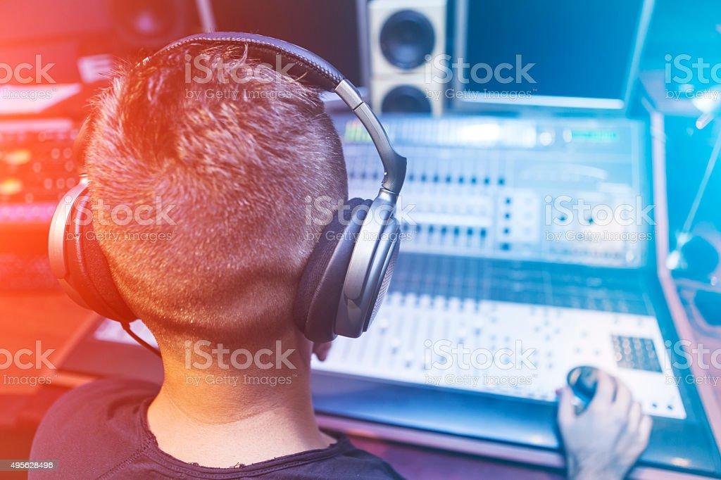 Sound Mixer Engineer stock photo