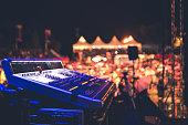 Sound mixer on stage