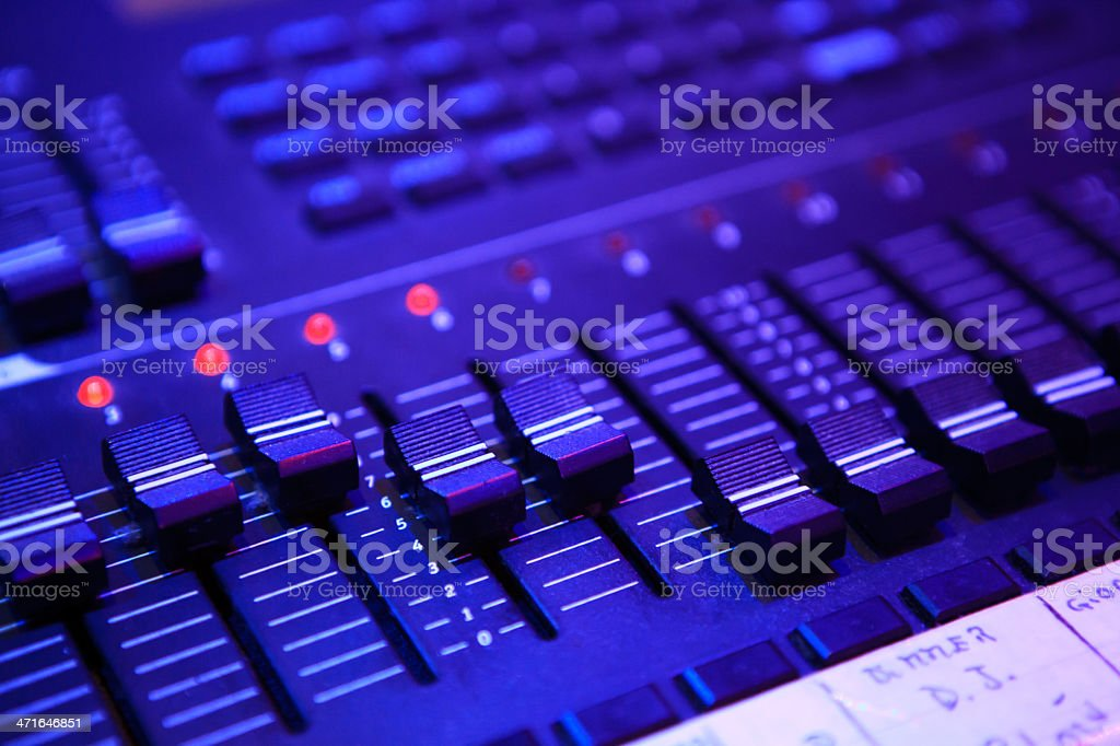 Sound Mixer royalty-free stock photo