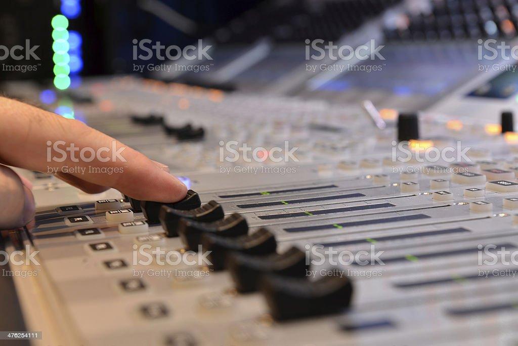 Sound Mixer royalty-free stock photo