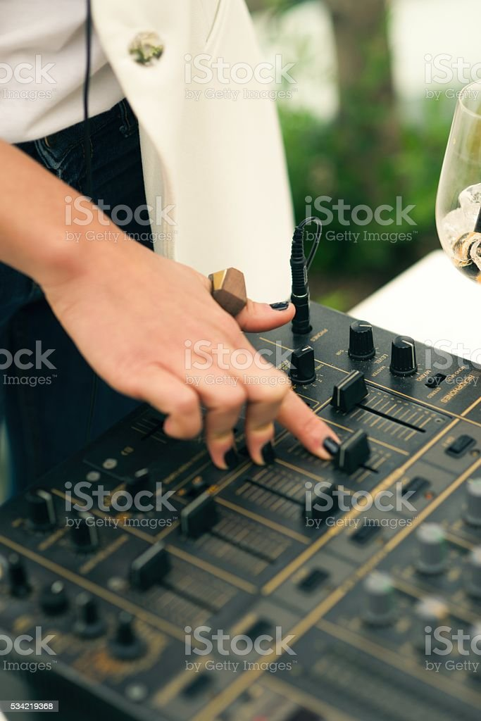 Sound mixer. stock photo