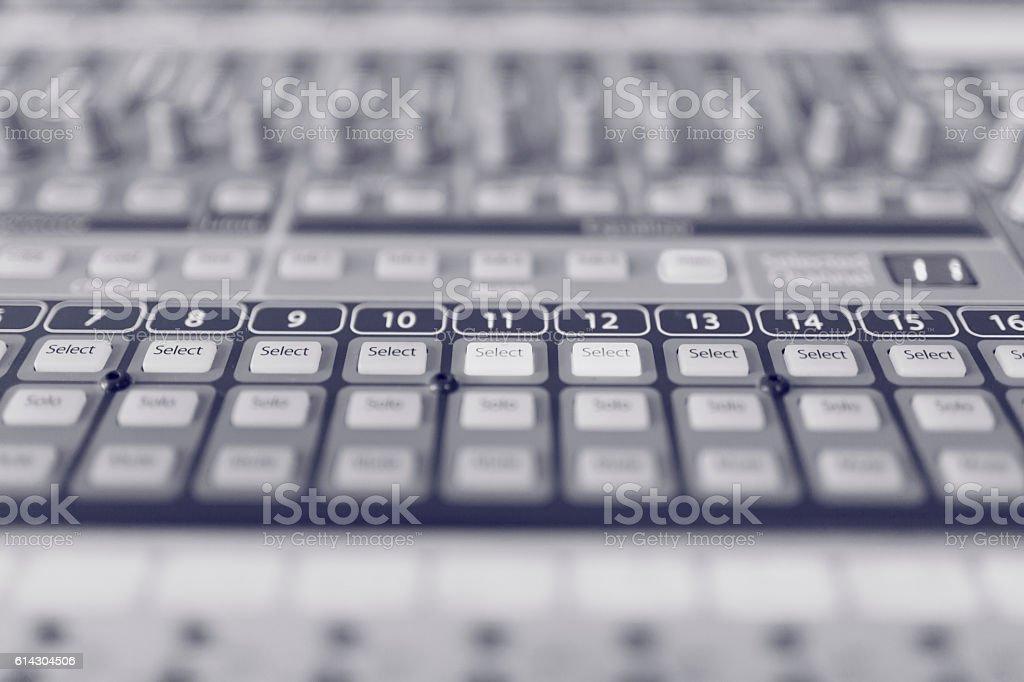 Sound Mixer stock photo