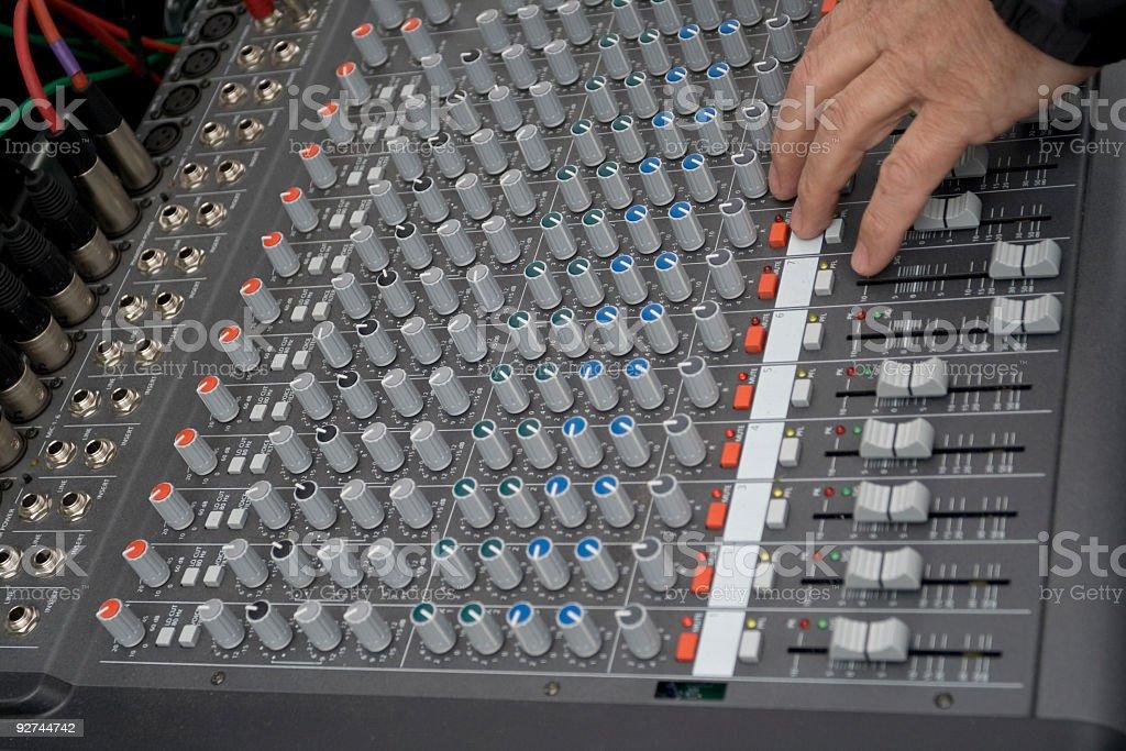 Sound mixer. royalty-free stock photo
