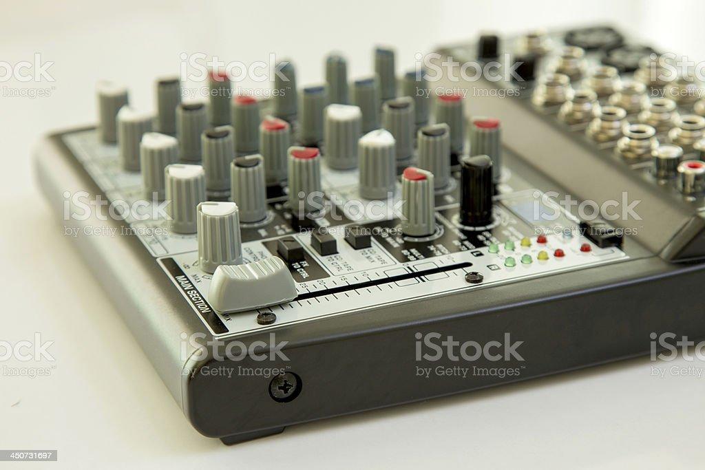 sound mixer studio adjusting record equipment royalty-free stock photo
