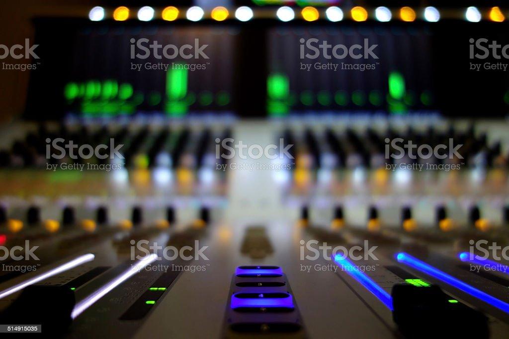 Sound Mixer - TV Broadcast stock photo