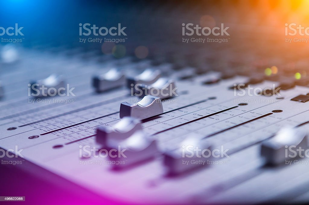 Sound Mixing stock photo