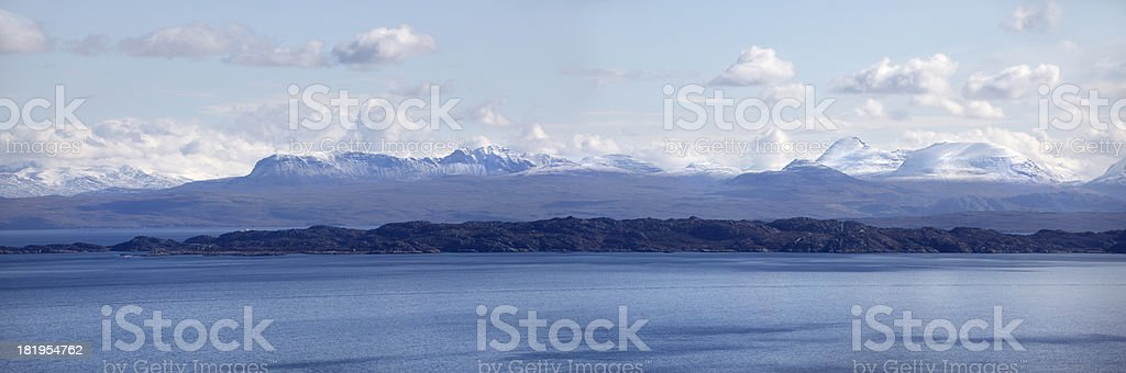 'Sound of Raasay, Rona island, and Wester Ross Mountains, Scotlan' stock photo