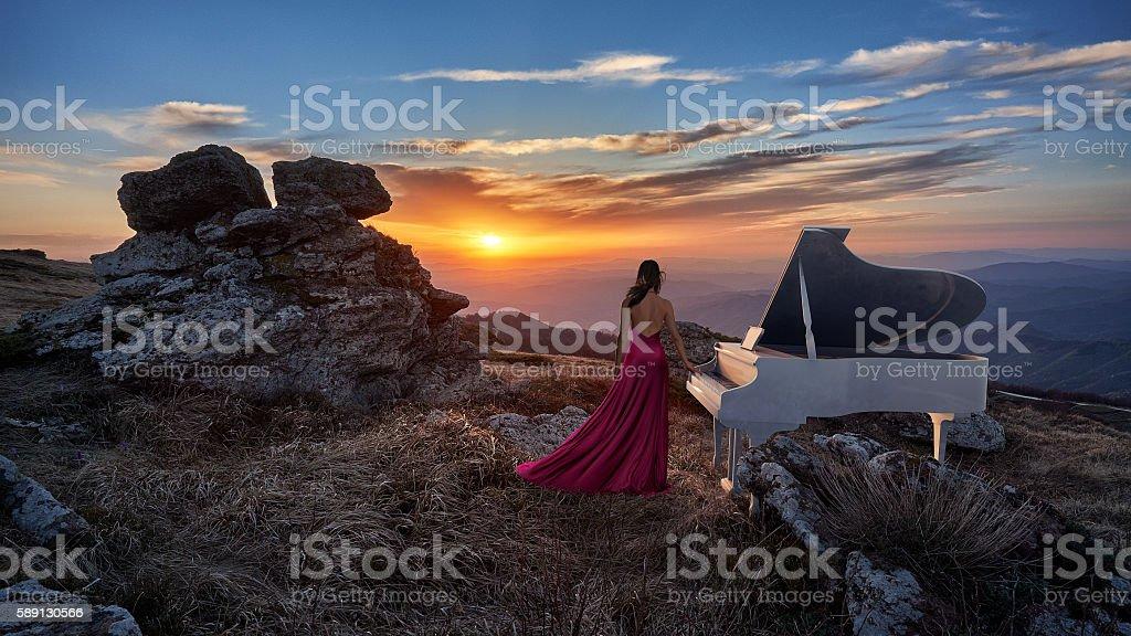 Sound of Sunset stock photo