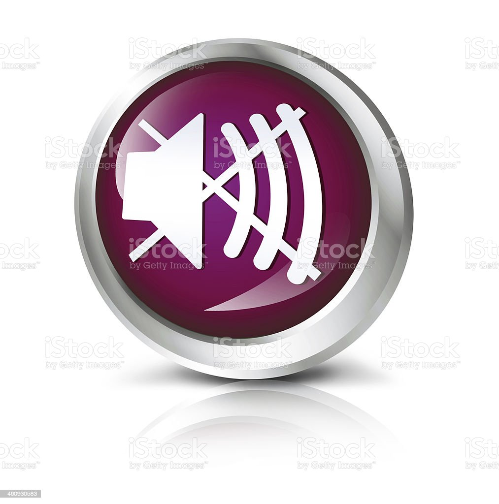 Sound off icon royalty-free stock photo