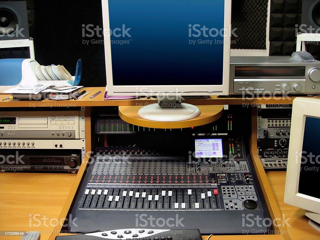 Sound Recording Studio Equipment royalty-free stock photo