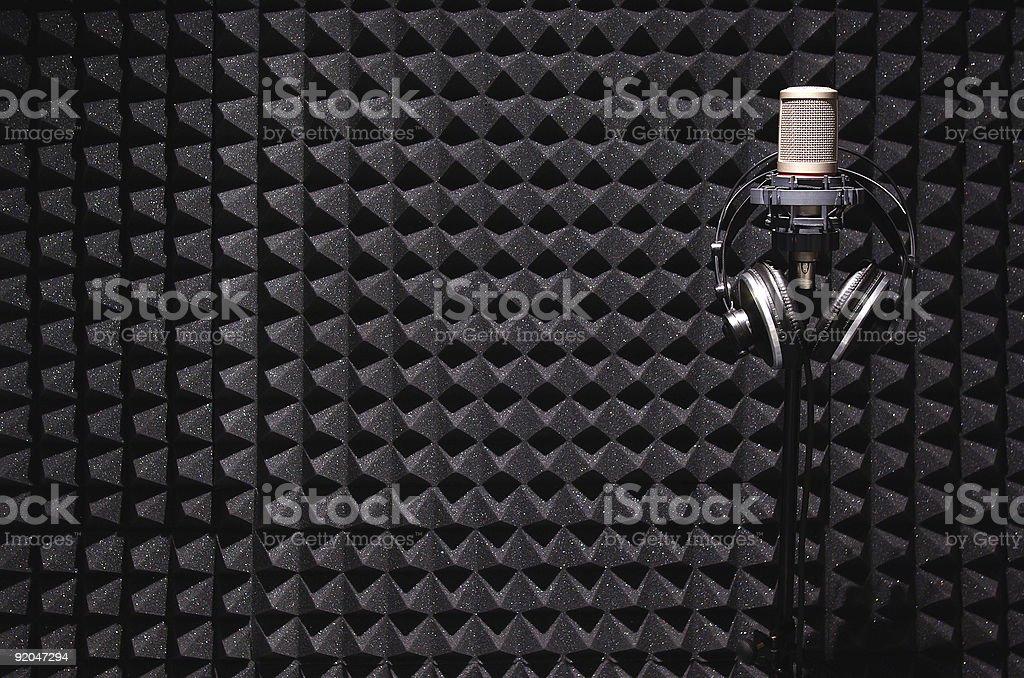 sound recording studio stock photo