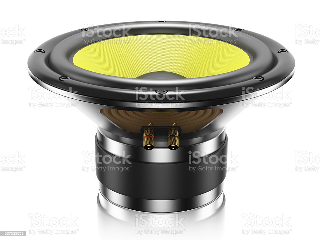 Sound speaker isolated stock photo