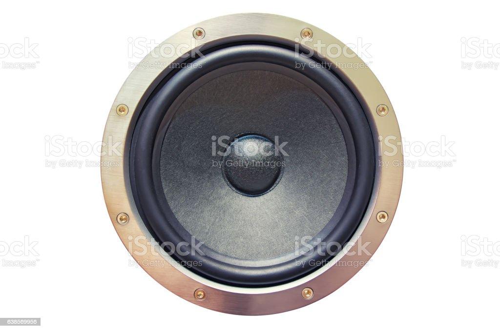 sound speaker on white background stock photo