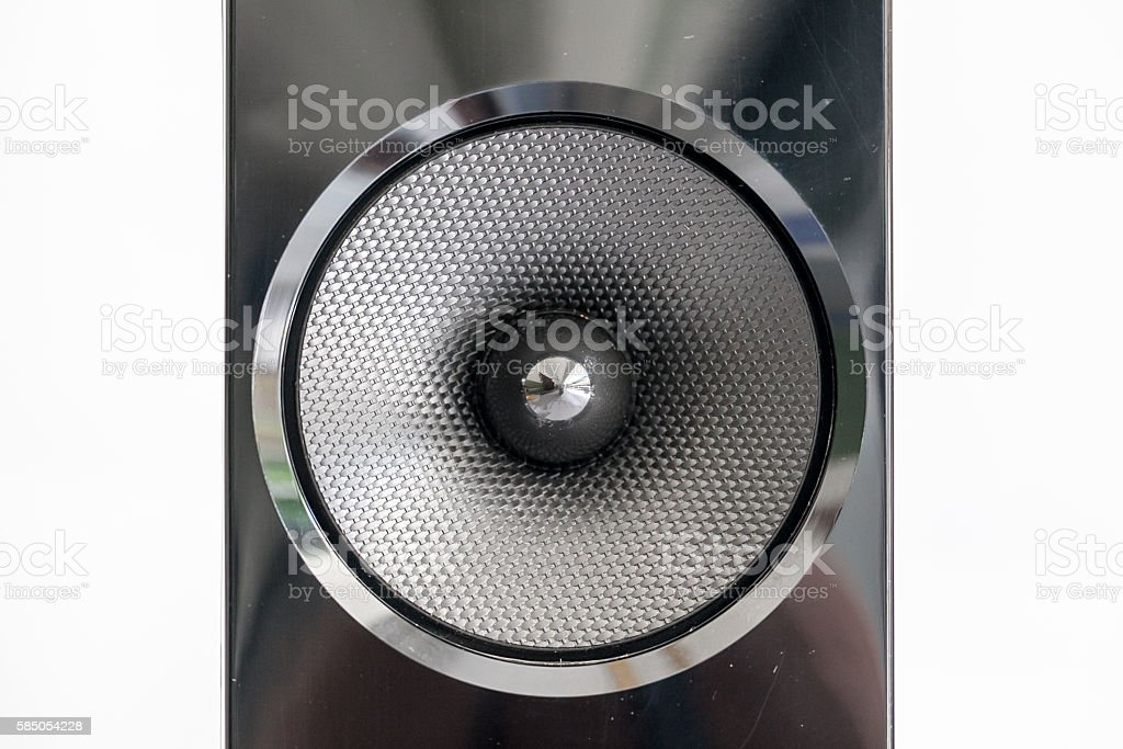 Sound speakers close-up stock photo