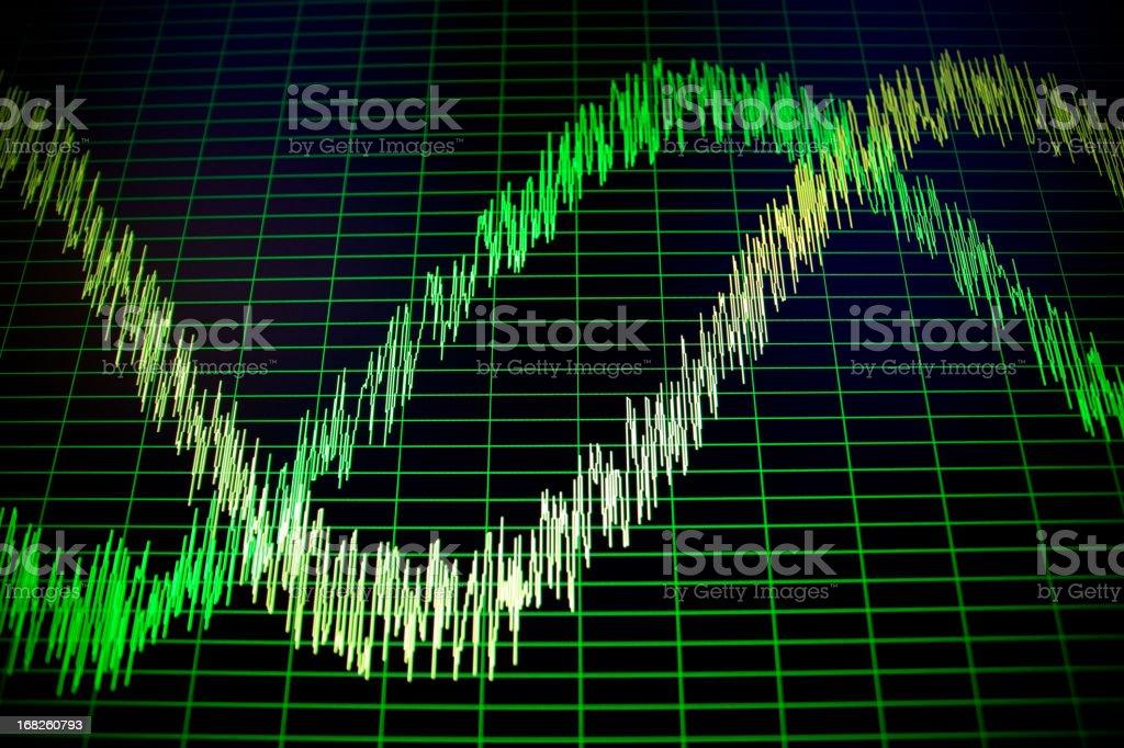 Sound spectrum stock photo