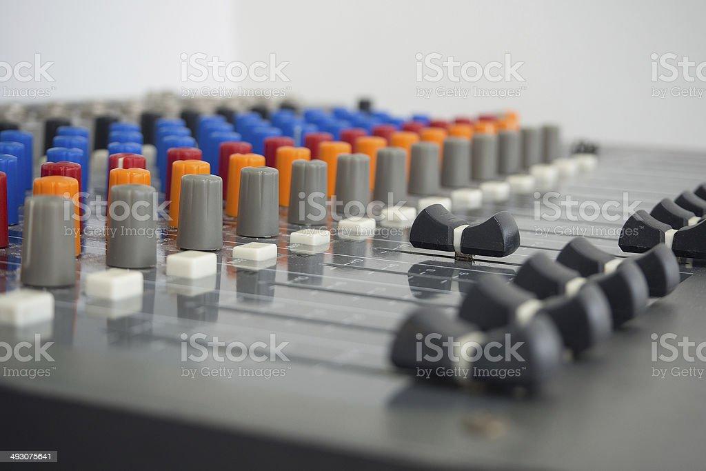 sound studio - Stock Image stock photo