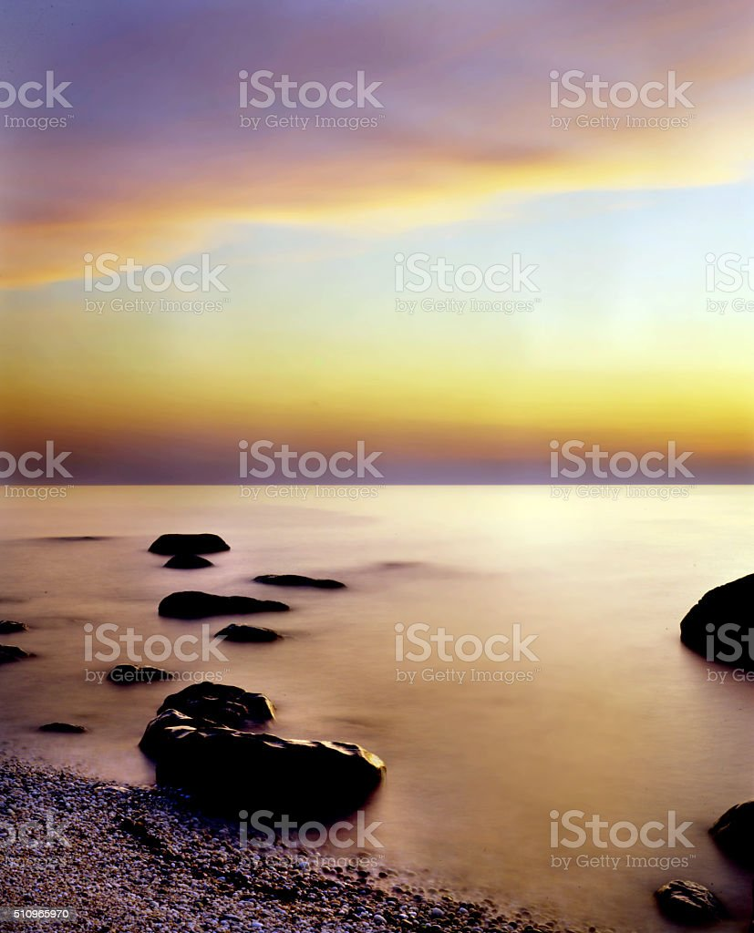 sound sunset stock photo