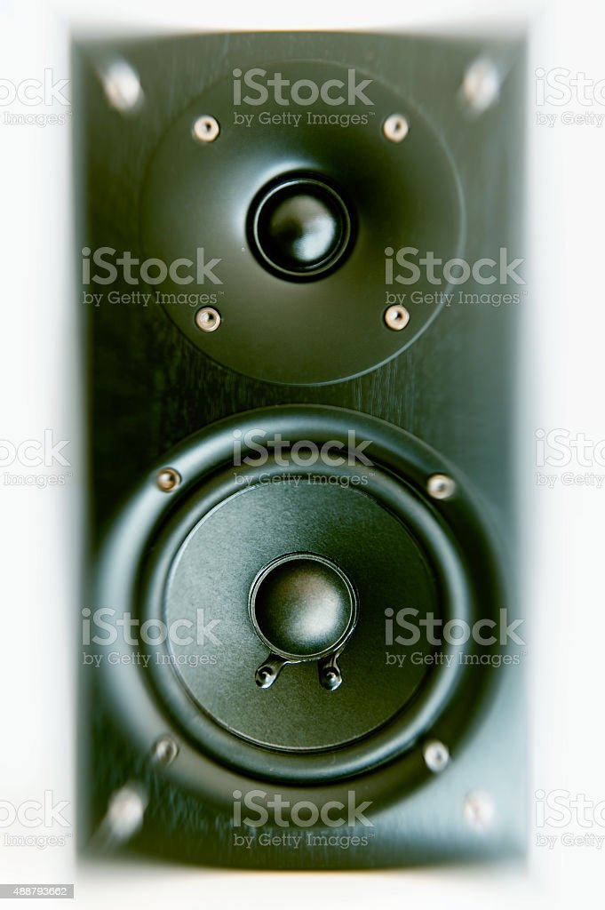 Sound system detail close-up stock photo