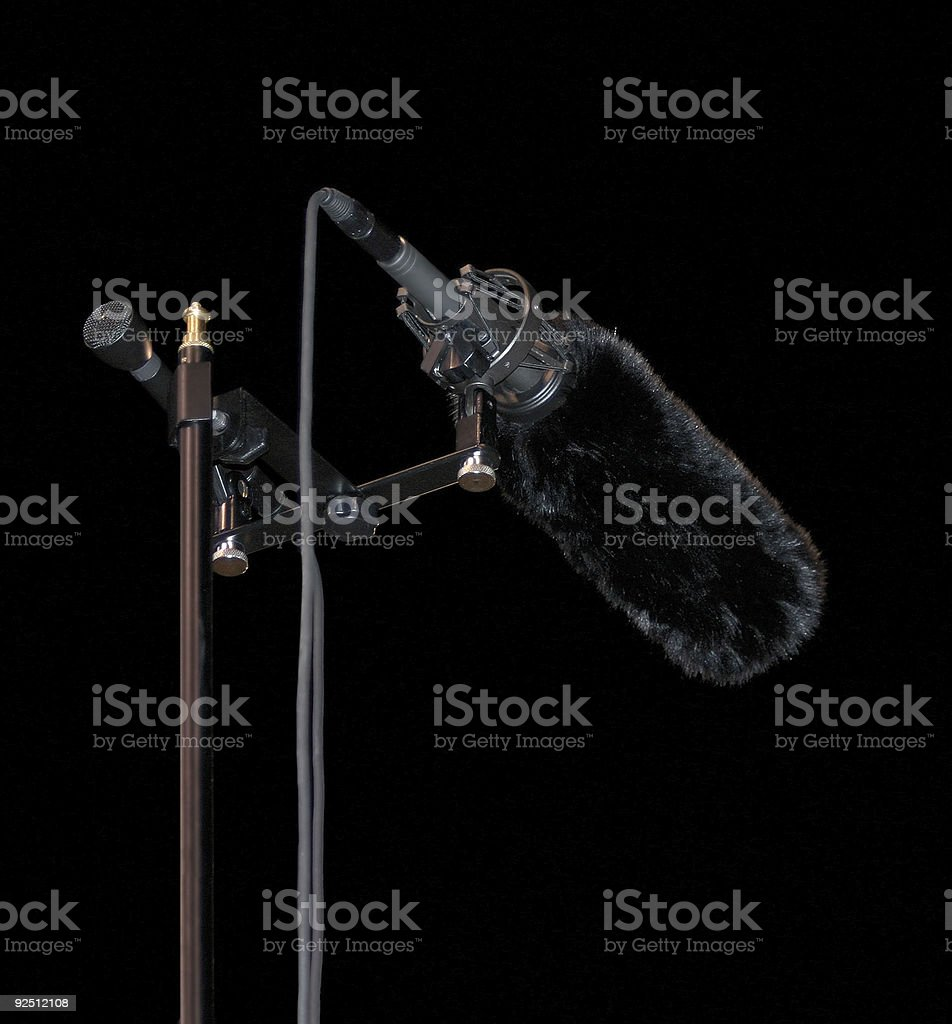 Sound System Microphones Ready to Tape royalty-free stock photo