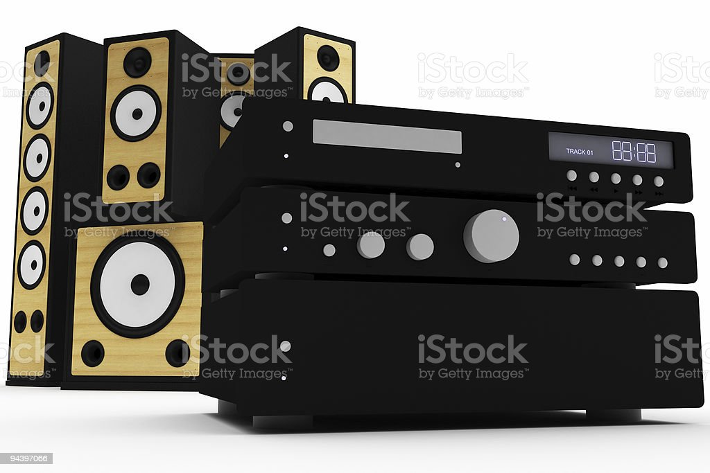 Sound System stock photo