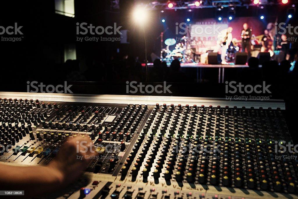Sound technician stock photo