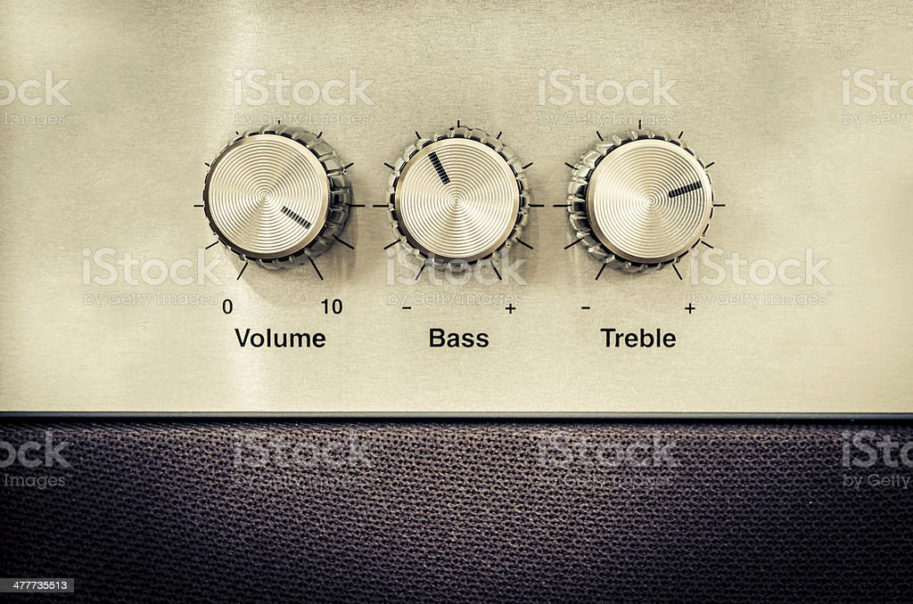 Sound volume controls in vintage style stock photo