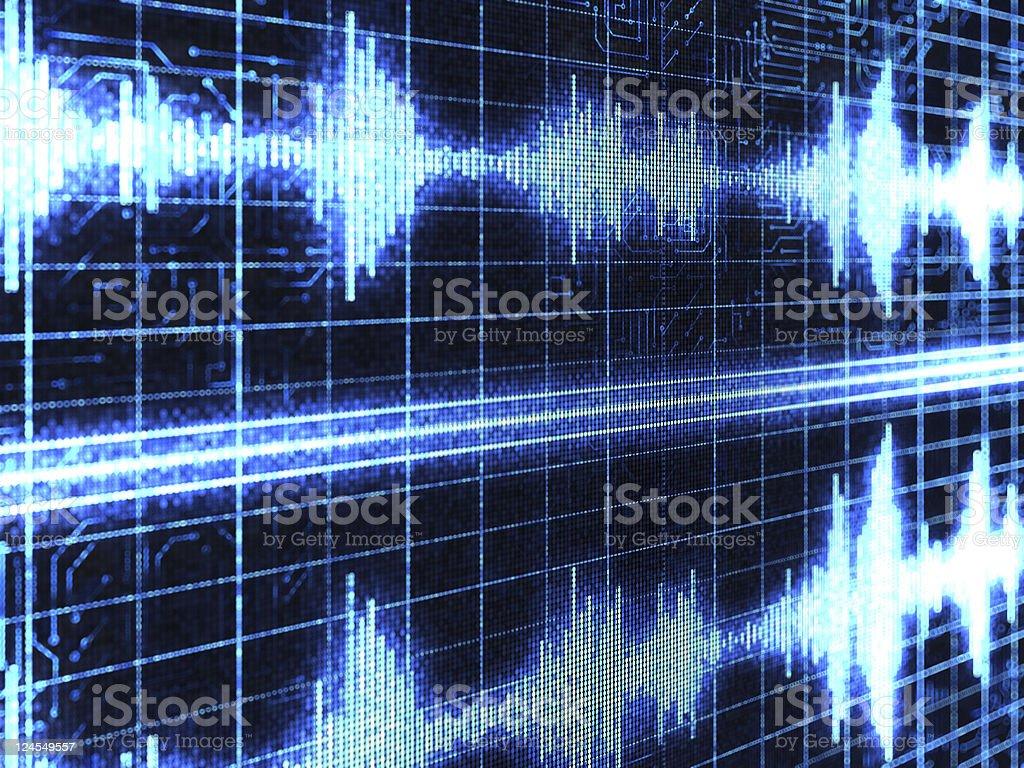 Sound wave background royalty-free stock photo