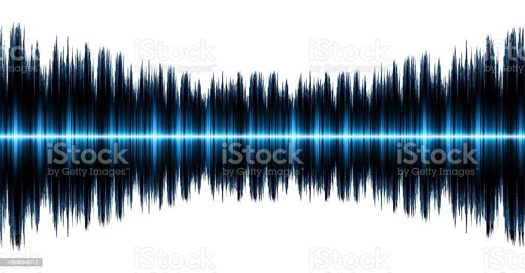Sound wave isolated on white background stock photo