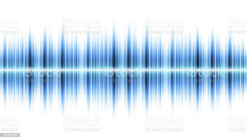 Sound wave isolated on white background vector art illustration