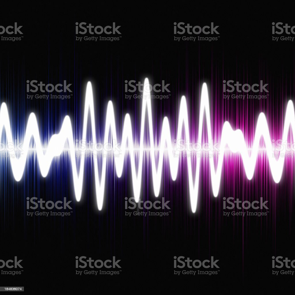 Sound wave royalty-free stock photo