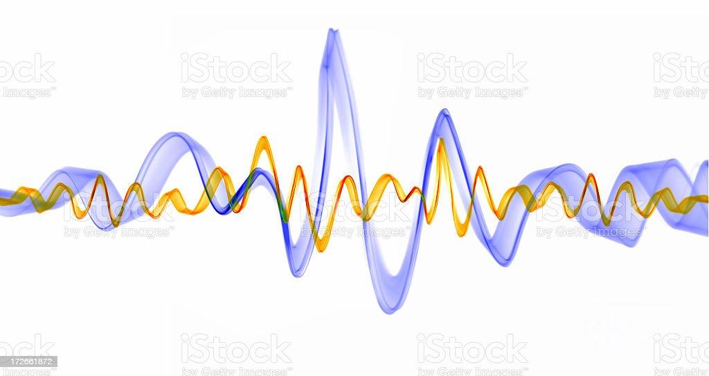 Sound waves stock photo