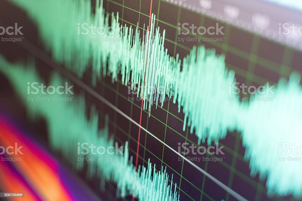 Sound Waves stock photo