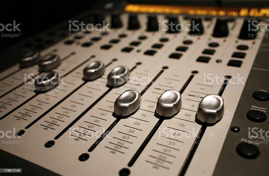 Soundboard Sliders stock photo