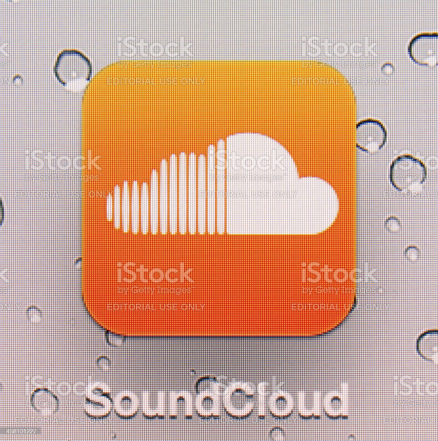 SoundCloud royalty-free stock photo